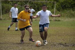 Soccer is a popular recreational sport