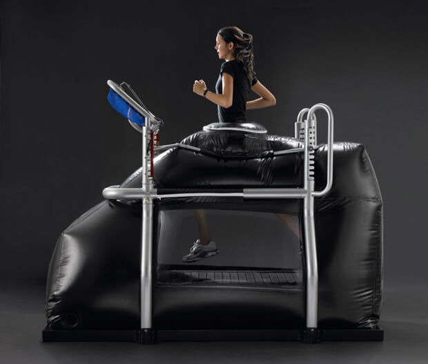 The AlterG takes weight and stress off allowing you to run pain free