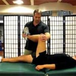 stretches the glute medius and piriformis