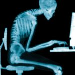 excessive sitting and hunching can cause strain in your lower back
