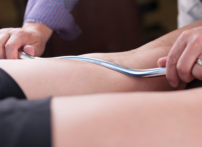 Myofascial Release can be performed by hand or with specialized tools