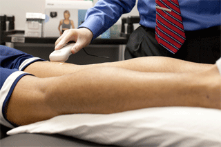 Ultrasound is an effective therapy to help break up scar tissue associated with HHT